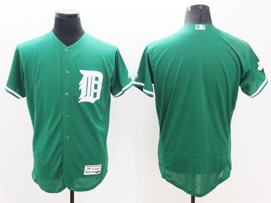 mens majestic detroit tigers blank green Flex Base jersey