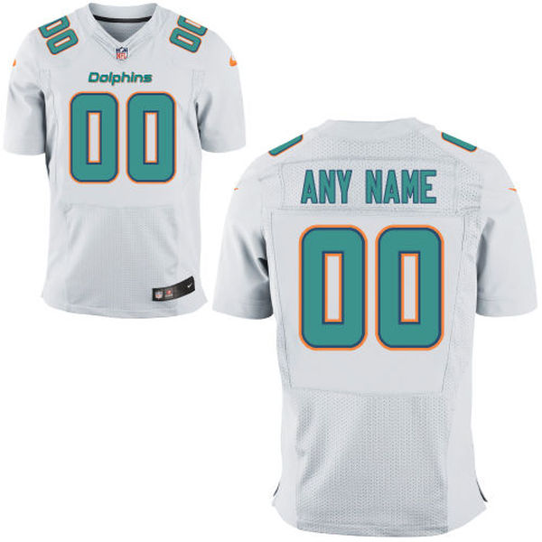 Mens Nike Miami Dolphins White Elite Jersey