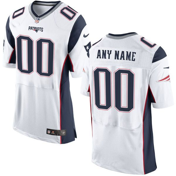 Mens New England Patriots White Elite Jersey