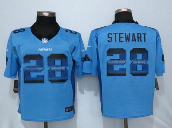Mens Nfl New   Carolina Panthers #28 Jonathan Stewart Blue Strobe Limited Jersey