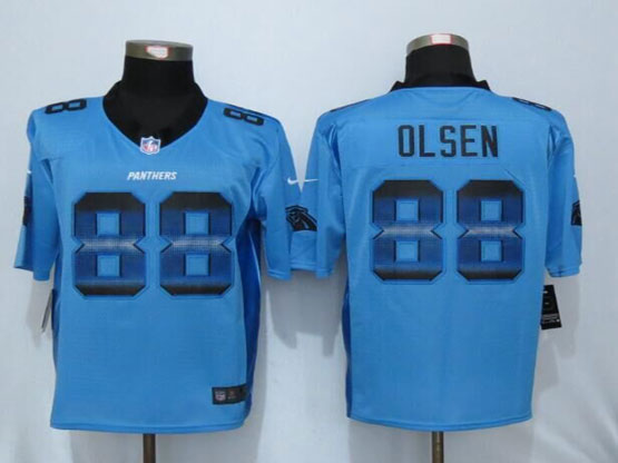 Mens Nfl New Nike Carolina Panthers #88 Greg Olsen Blue Strobe Limited Jersey