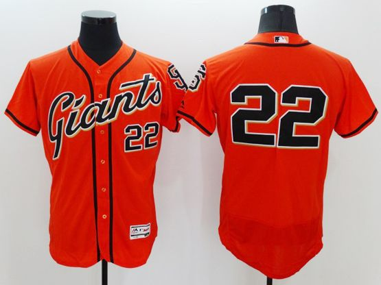 mens majestic san francisco giants #22 jake peavy orange Flex Base jersey