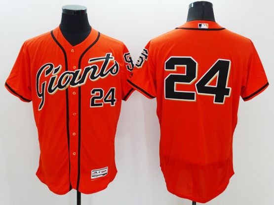 mens majestic san francisco giants #24 willie mays orange Flex Base jersey