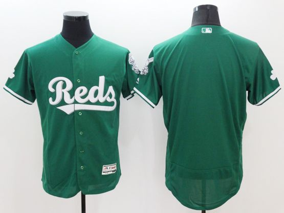 Mens Mlb Cincinnati Reds Blank Green Flex Base Jersey