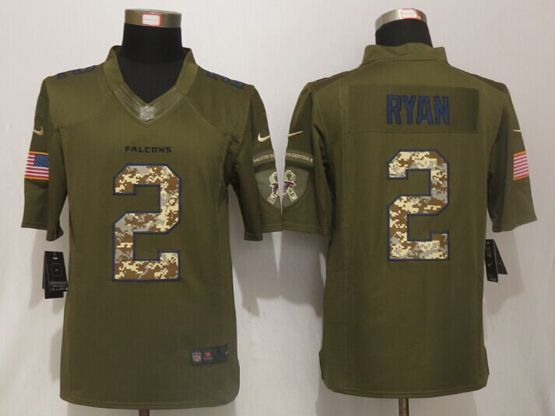 Mens Nfl Atlanta Falcons #2 Matt Ryan Green Salute To Service Limited Jersey