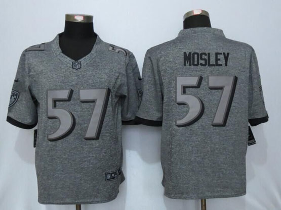 Mens Nfl Baltimore Ravens #57 C.j. Mosley Gray Stitched Gridiron Limited Jersey