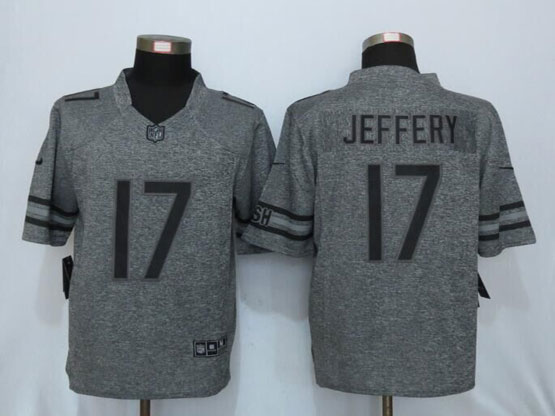 Mens Nfl Chicago Bears #17 Alshon Jeffery Gray Stitched Gridiron Limited Jersey