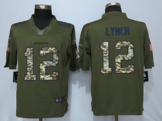 Mens Nfl Denver Broncos #12 Paxton Lynch Green Salute To Service Limited Jersey