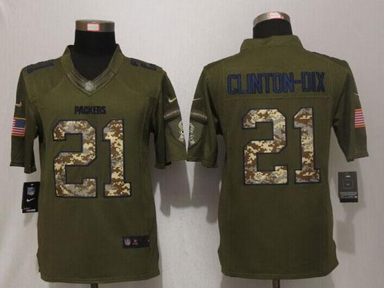 Mens Nfl Green Bay Packers #21 Ha Ha Clinton-dix Green Salute To Service Limited Jersey