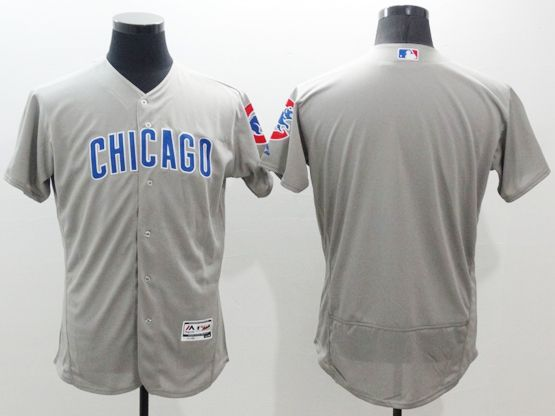 mens majestic chicago cubs blank gray Flex Base jersey