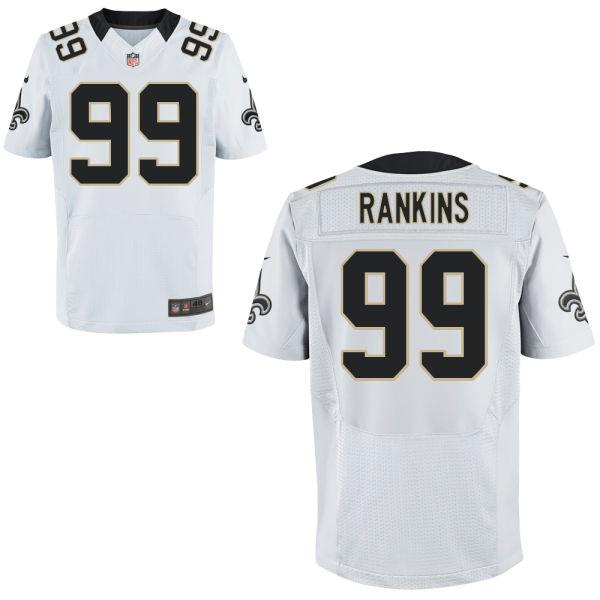Mens Nfl Orleans Saints #99 Sheldon Rankins White Elite Jersey