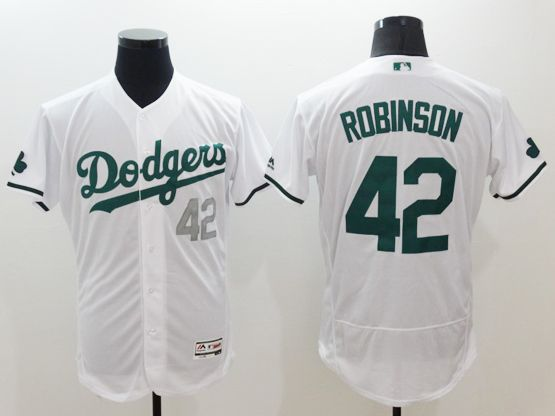 Mens Majestic Los Angeles Dodgers #42 Ackie Robinson White 2016 New Flexbase Collection Jersey