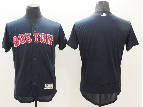 Mens Majestic Boston Red Sox Blank Navy Blue Cool Base Flexbase Collection Jersey