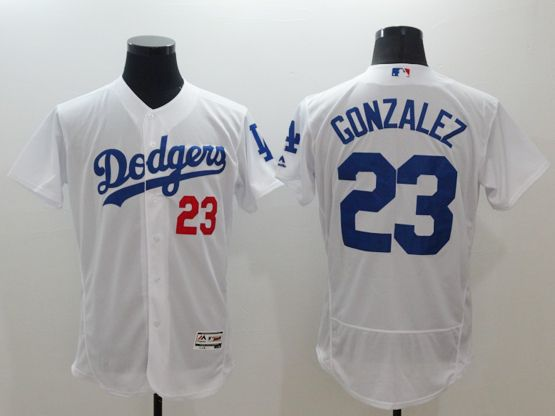 Mens Majestic Los Angeles Dodgers #23 Adrian Gonzalez White Flexbase Collection (majestic) Jersey