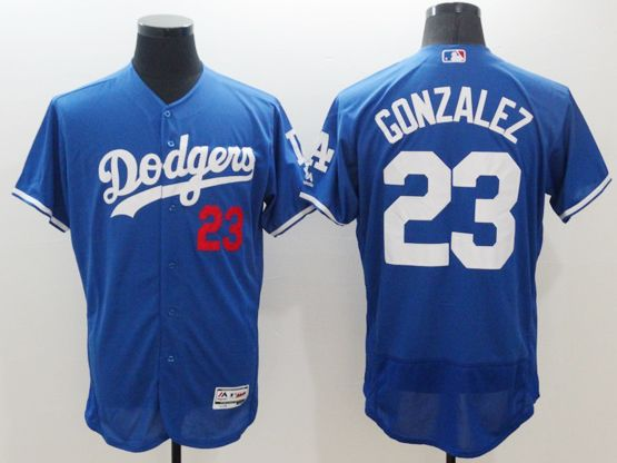 mens majestic los angeles dodgers #23 adrian gonzalez blue Flex Base jersey