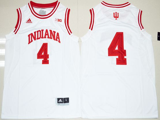 Mens Ncaa Nba Indiana Hoosiers #4 Victor Oladipo White Jersey