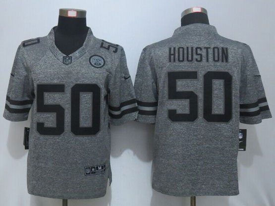 Mens Nfl Kansas City Chiefs #50 Justin Houston Gray Stitched Gridiron Limited Jersey