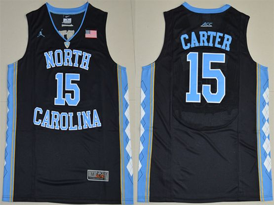 Mens Ncaa Nba 2016 North Carolina Tar Heels #15 Vince Carter Black Jersey