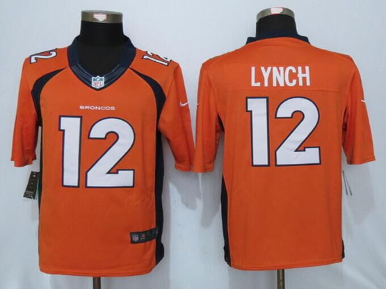 Mens Nfl Denver Broncos #12 Paxton Lynch Orange Limited Jerseys