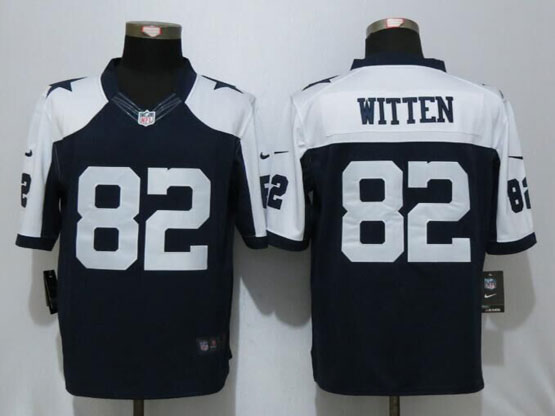 Mens Nfl Dallas Cowboys #82 Jason Witten Blue Thanksgiving Limited Jersey