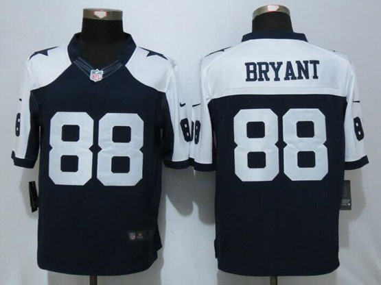 Mens Nfl Dallas Cowboys #88 Dez Bryant Blue Thanksgiving Limited Jersey