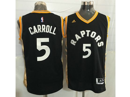 Mens Nba Toronto Raptors #5 Demarre Carroll Black&gold Jersey