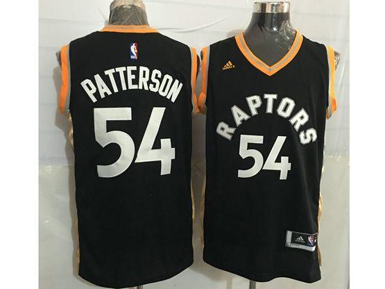 Mens Nba Toronto Raptors #54 Patrick Patterson Black&gold Jersey