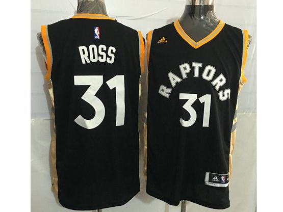 Mens Nba Toronto Raptors #31 Terrence Ross Black&gold Jersey