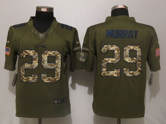 Mens Nfl Philadelphia Eagles #29 Demarco Murray Green Salute To Service Limited Jersey