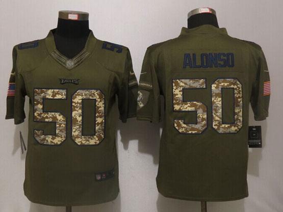 Mens Nfl Philadelphia Eagles #50 Kiko Alonso Green Salute To Service Limited Jersey