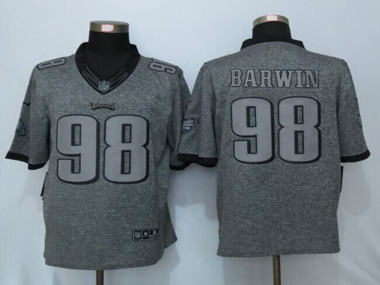 Mens Nfl Philadelphia Eagles #98 Connor Barwin Gray Stitched Gridiron Limited Jersey