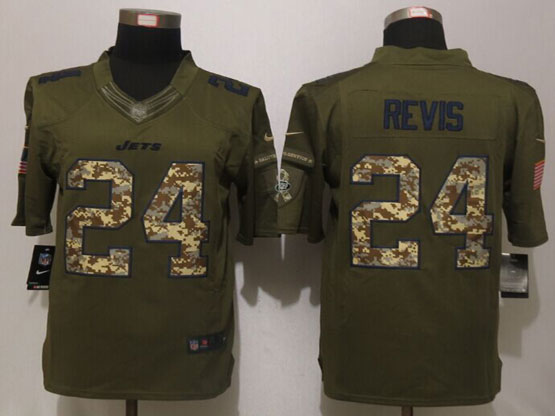 Mens Nfl New York Jets #24 Darrelle Revis Green Salute To Service Limited Jersey