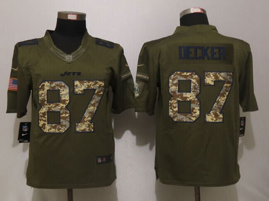 Mens Nfl New York Jets #87 Eric Decker Green Salute To Service Limited Jersey