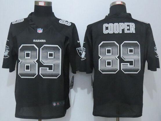 Mens Nfl Oakland Raiders #89 Amari Cooper Black Strobe Limited Jersey