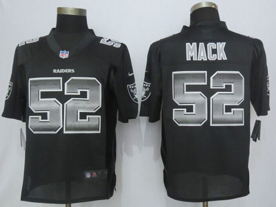 Mens Nfl Oakland Raiders #52 Khalil Mack Black Strobe Limited Jersey