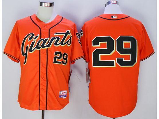 Mens Mlb San Francisco Giants #29 Jeff Samardzija Orange Jersey