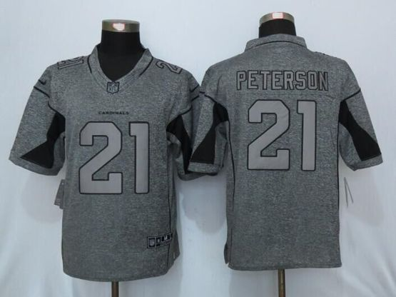 Mens Nfl Arizona Cardinals #21 Patrick Peterson Gray Stitched Gridiron Limited Jersey