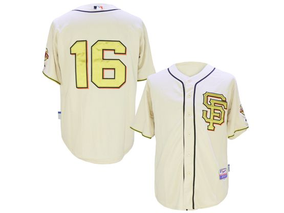 Mens Mlb San Francisco Giants #16 Angel Pagan Rice White 2014 Champion Version Jersey