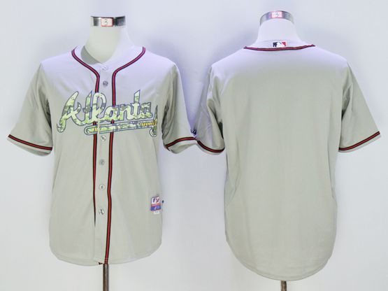 Mens Mlb Atlanta Braves Blank Gray Camo Usmc Jersey