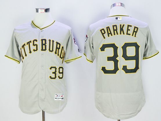 mens majestic pittsburgh pirates #39 dave parker gray Flex Base jersey