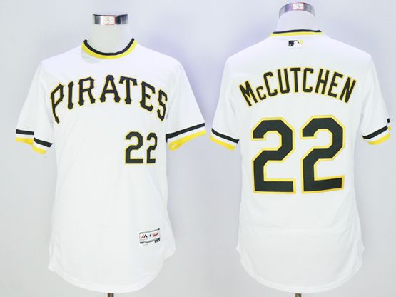 mens majestic pittsburgh pirates #22 andrew mccutchen white pullover Flex Base jersey
