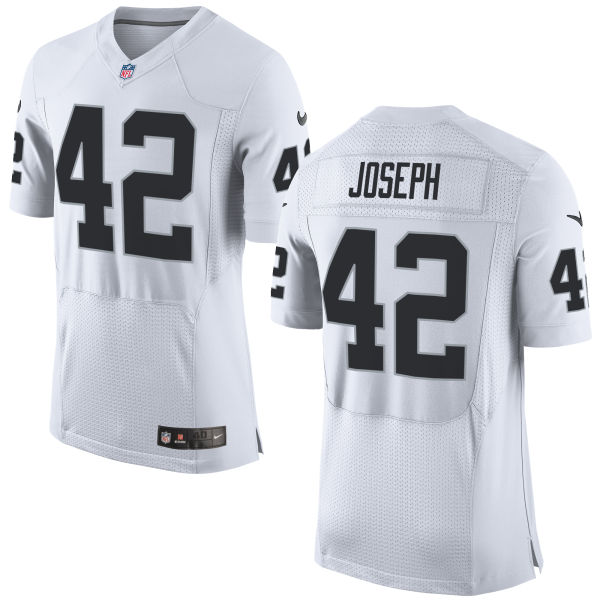 Mens Nfl Oakland Raiders #42 Karl Joseph White Elite Jersey