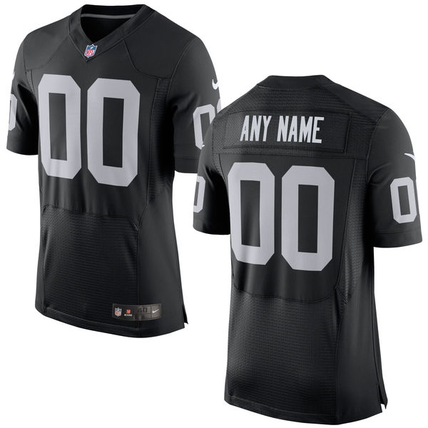 Mens Nike Oakland Raiders Black Elite Jersey