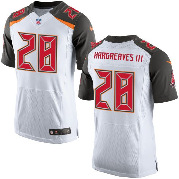 Mens Nfl Tampa Bay Buccaneers #28 Vernon Hargreaves Iii White Elite Jersey