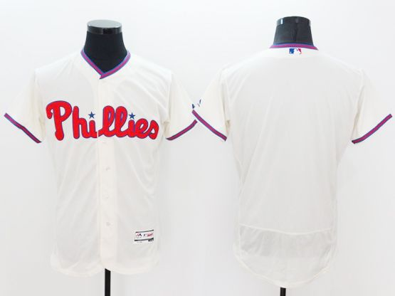 mens majestic philadelphia phillies blank white Flex Base jersey