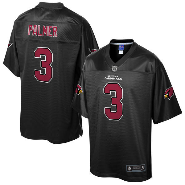 Mens Nfl  Arizona Cardinals #3 Carson Palmer Pro Line Black Reverse Fashion Jersey