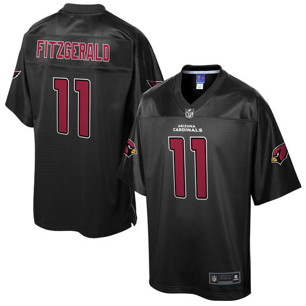 Mens Nfl Arizona Cardinals #11 Larry Fitzgerald Pro Line Black Reverse Fashion Jersey