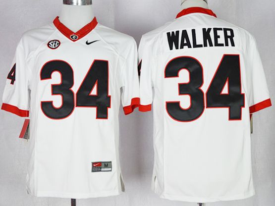 Mens Ncaa Nfl Georgia Bulldogs #34 Herchel Walker White Jersey