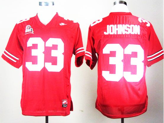 Mens Ncaa Nfl Ohio State Buckeyes #33 Pete Johnson Red Jersey