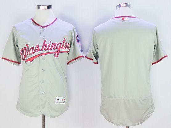 mens majestic washington nationals blank gray Flex Base jersey